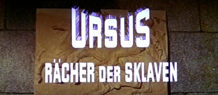 Ursus - Rächer der Sklaven